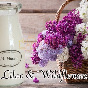 Milkhouse Candles Lilac & Wildflowers Milk Bottle