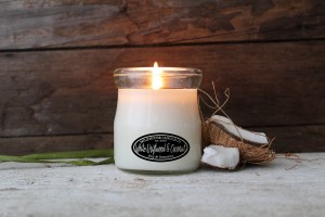 Milkhouse Candles WHITE DRIFTWOOD & COCONUT Cream Jar