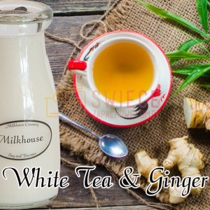 Milkhouse Candles White Tea & Ginger Milk Bottle