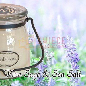 Milkhouse Candles BLUE SAGE & SEA SALT Świeca Średnia
