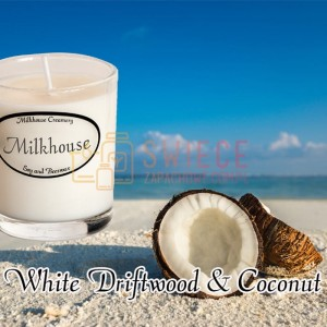 Milkhouse Candles WHITE DRIFTWOOD & COCONUT Shot