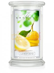 Kringle Candle Lemon Rind Large 2 Wick Classic Skórka Cytrynowa