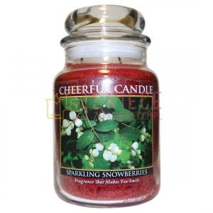 Cheerful Candle Sparkling Snowberries Świeca Duża
