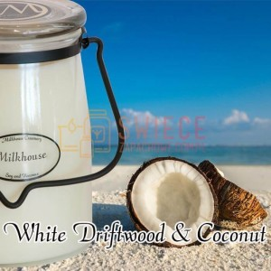 Milkhouse Candles WHITE DRIFTWOOD & COCONUT Świeca Duża