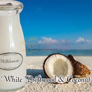 Milkhouse Candles WHITE DRIFTWOOD & COCONUT Milk Bottle