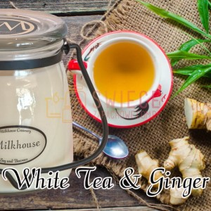 Milkhouse Candles WHITE TEA & GINGER Świeca Średnia