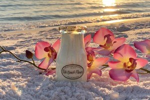 Milkhouse Candles TIKI BEACH FLOWER Milk Bottle
