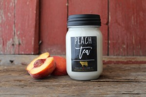 Milkhouse Candles PEACH TEA Mason Jar