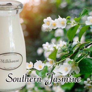 Milkhouse Candles SOUTHERN JASMINE Milk Bottle