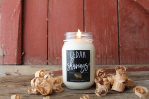 Milkhouse Candles CEDAR SHAVINGS Mason Jar