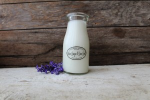 Milkhouse Candles BLUE SAGE & SEA SALT Milk Bottle
