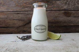 Milkhouse Candles CITRUS & LAVENDER Milk Bottle