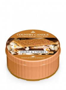 Country Candle SMOKE & S MORES DayLights