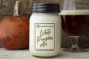 Milkhouse Candles WHITE PUMPKIN ALE LE Mason
