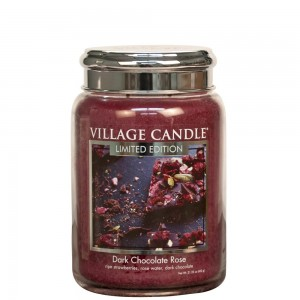 Village Candle Dark Chocolate Rose Duża Świeca