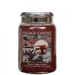 Village Candle Cherry Coffee Cordial Duża Świeca