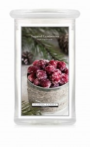 Classic Candle SUGARED CRANBERRIES 2 Wick Large Jar