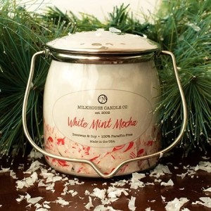 Milkhouse Candles WHITE MINT MOCHA Wrapped Butter