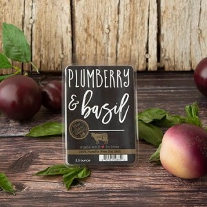 Milkhouse Candles PLUMBERRY & BASIL Farmhouse Wosk