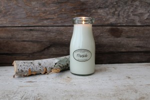 Milkhouse Candles FIRESIDE Milk Bottle