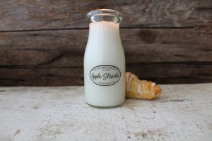 Milkhouse Candles APPLE STRUDEL Milk Bottle