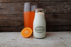Milkhouse Candles TANGERINE SODA Milk Bottle