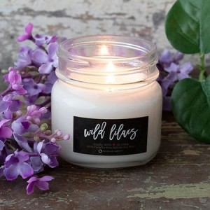 Milkhouse Candles WILD LILACS Mini Mason