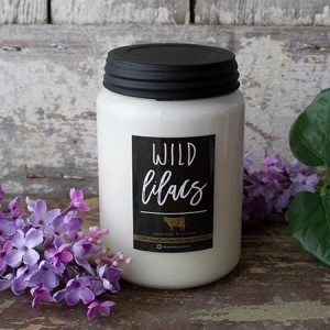 Milkhouse Candles WILD LILACS Farmhouse Jar