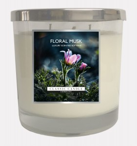 Classic Candle FLORAL MUSK Świeca SOY Duża