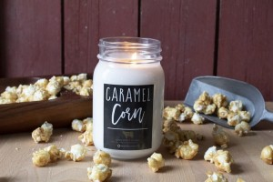 Milkhouse Candles CARAMEL CORN Mason Jar