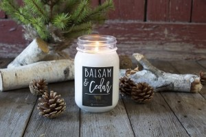 Milkhouse Candles BALSAM & CEDAR Mason Jar