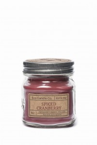 Eco Candle Co. SPICED CRANBERRY Świeca Retro Mason