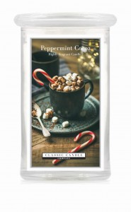 Classic Candle PEPPERMINT COCOA 2 Wick Large Jar