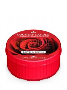 Country Candle LOVE & ROSES DayLights