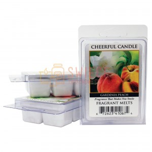 Cheerful Candle Gardenia Peach Wosk