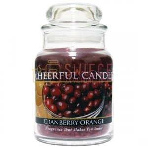 Cheerful Candle Cranberry Orange Świeca Mała