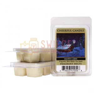 Cheerful Candle SNOWY CABIN Wosk