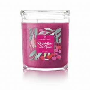 Colonial Candle Large Jar RASPBERRIES & CREAM