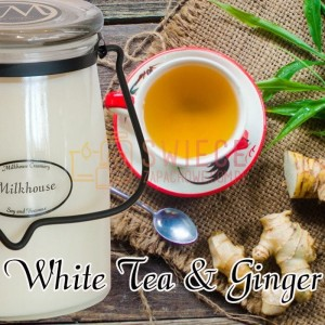 Milkhouse Candles WHITE TEA & GINGER Świeca Duża