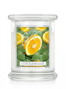 Kringle Candle Lemon Rind Medium 2 Wick Classic Skórka Cytrynowa