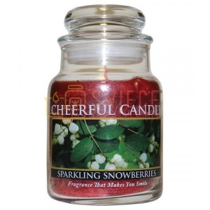Cheerful Candle Sparkling Snowberries Świeca Mała
