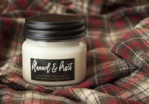 Milkhouse Candles FLANNEL & FROST Mini Mason