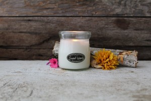 Milkhouse Candles SWEET WOODS Cream Jar