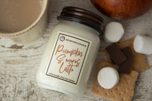 Milkhouse Candles PUMPKIN S'MORES LATTE LE Mason