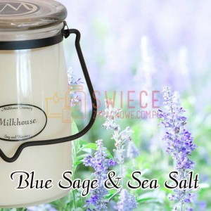 Milkhouse Candles BLUE SAGE & SEA SALT Świeca Duża