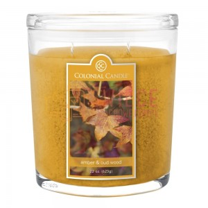 Colonial Candle Large Jar Amber & Oud Wood