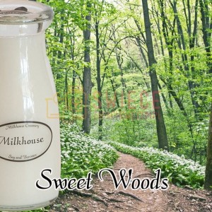 Milkhouse Candles Sweet Woods Milk Bottle