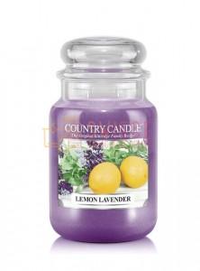 Country Candle Lemon Lavender Świeca Duża