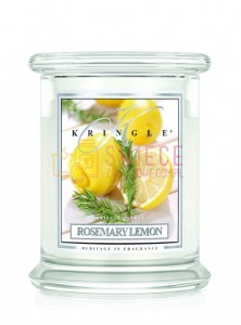 Kringle Candle Rosemary Lemon Medium 2 Wick Classic Cytrynowy rozmaryn