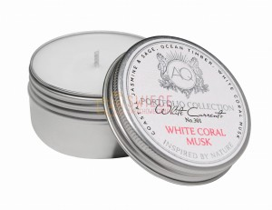 WHITE CORAL MUSK ~ Soy Travel Sample Tin Candle
